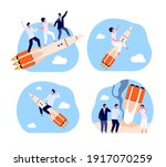 business startup. bankruptcy... | Shutterstock .eps vector #1917070259