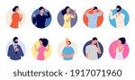 people emotional avatars.... | Shutterstock .eps vector #1917071960