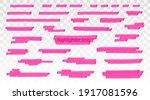pink highlighter lines set...   Shutterstock .eps vector #1917081596