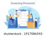 personnel screening concept....   Shutterstock .eps vector #1917086543