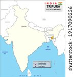 tripura map. showing... | Shutterstock .eps vector #1917090236