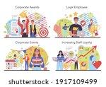 employee loyalty concept set.... | Shutterstock .eps vector #1917109499