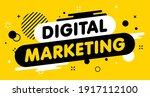 modern banner digital marketing.... | Shutterstock .eps vector #1917112100