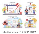 human resources online service...   Shutterstock .eps vector #1917112349