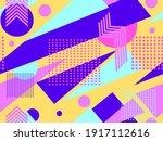 memphis seamless pattern....   Shutterstock .eps vector #1917112616