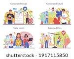 corporate culture concept set.... | Shutterstock .eps vector #1917115850