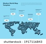 modern 3d world map infographic ...   Shutterstock .eps vector #1917116843
