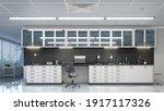 spacious laboratory interior.... | Shutterstock . vector #1917117326