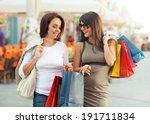 two beautiful women having fun...   Shutterstock . vector #191711834