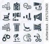 Simple Set Of  16 Filled Icons...