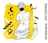 ancient greek goddess statue in ...   Shutterstock .eps vector #1917154340