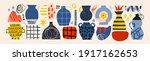 ceramic vases and random...   Shutterstock .eps vector #1917162653