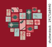 gift boxes in a composition... | Shutterstock .eps vector #1917168440