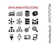 data analytics icons set on... | Shutterstock .eps vector #1917172736
