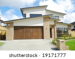 elegant home with landscaped... | Shutterstock . vector #19171777
