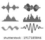 frequency audio waveform  music ... | Shutterstock .eps vector #1917185846