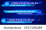 colorful lower thirds set... | Shutterstock .eps vector #1917190289