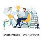 application developing team... | Shutterstock .eps vector #1917196046