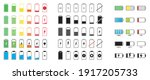 set of capacity battery icons....   Shutterstock .eps vector #1917205733