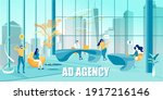 ad agency and workflow process... | Shutterstock .eps vector #1917216146