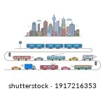 city landscape. city... | Shutterstock .eps vector #1917216353