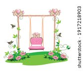 the swing for the princess is... | Shutterstock .eps vector #1917218903