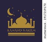 illustration of graphic ramadan ... | Shutterstock .eps vector #1917219170