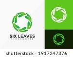 six leaf logo design. creative... | Shutterstock .eps vector #1917247376