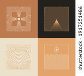 vector set of linear boho icons ... | Shutterstock .eps vector #1917251486