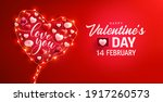 happy valentine's day poster or ...   Shutterstock . vector #1917260573