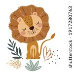 wildlife animals. cute lion... | Shutterstock .eps vector #1917280763