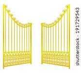 isolated on white open golden... | Shutterstock .eps vector #191729543