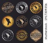 moldova business metal stamps.... | Shutterstock .eps vector #1917309356