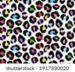leopard print  colorful cheetah ... | Shutterstock .eps vector #1917330020