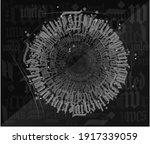 the vector calligraphy text... | Shutterstock .eps vector #1917339059