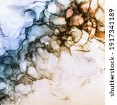 Alcohol Ink Waves Background In ...