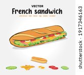 crispy french bread sandwich... | Shutterstock .eps vector #1917346163