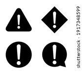 set of hazard warning  warn... | Shutterstock .eps vector #1917348599