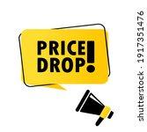 megaphone with price drop... | Shutterstock .eps vector #1917351476