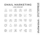 set line icons of email... | Shutterstock .eps vector #1917359810
