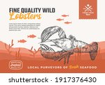 fine quality organic seafood.... | Shutterstock .eps vector #1917376430