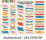 ribbon and emblem set vintage... | Shutterstock .eps vector #1917378749