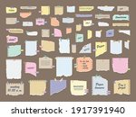 paper notes on stickers. sticky ...   Shutterstock .eps vector #1917391940