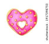 A Heart Shaped Doughnut With...