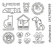 set of logotypes with dogs. dog ... | Shutterstock .eps vector #1917402959