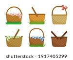 easter egg basket or picnic...   Shutterstock .eps vector #1917405299