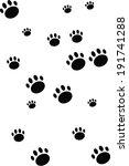 dog footprint background   Shutterstock .eps vector #191741288