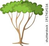 green tree   fruit tree painted ... | Shutterstock .eps vector #1917414116