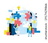 team work  team building ... | Shutterstock .eps vector #1917429866