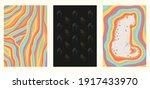 set of three minimalist rainbow ... | Shutterstock .eps vector #1917433970
